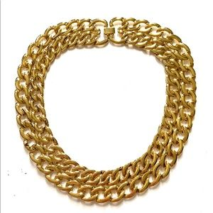 Vintage Thick gold chain Collar Necklace